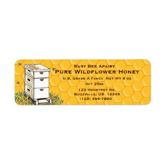 Bienenstock-und Bienenwaben-personalisierte