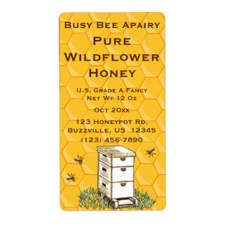 Bienenstock-und Bienenwaben-personalisiertes