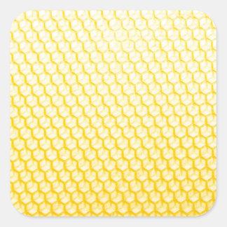 Bienenwabe Quadrat-Aufkleber