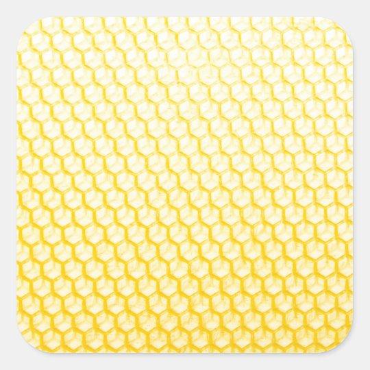 Bienenwabe Quadratischer Aufkleber