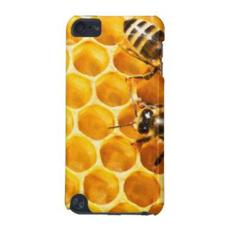 Bienenwabe und Bienen-Muster-Entwurf iPod Touch 5G Hülle
