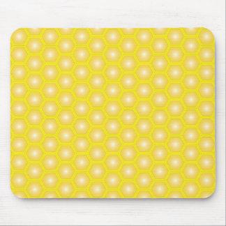 Bienenwaben-Gelb auf gelbem Vektor Mauspads