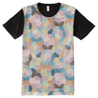 Bienenwaben-Pastelle ganz über Druck-T-Shirt T-Shirt Mit Bedruckbarer Vorderseite