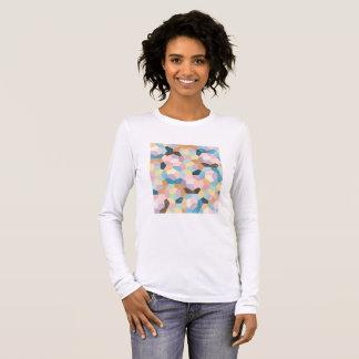 Bienenwaben-Pastelle Longsleeve T-Shirt (#001)