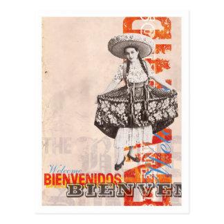 Bienvenidos Postkarte