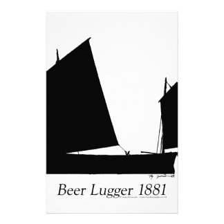 Bier 1881 Lugger - tony fernandes Briefpapier