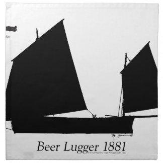 Bier 1881 Lugger - tony fernandes Stoffserviette