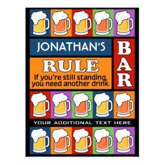BIER Bar-Pop-Kunst NAME-Postkarte Postkarten