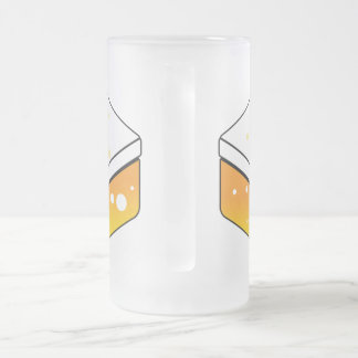 Bier-Bier-Bier JP - doppeltes Logo-Glas Mattglas Bierglas