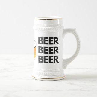 Bier-Bier-Bier JP-Logo Stein Bierglas