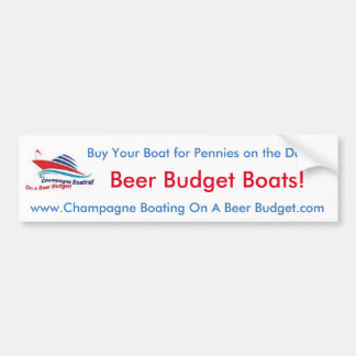 Bier-Budget-Boots-Autoaufkleber! Autoaufkleber