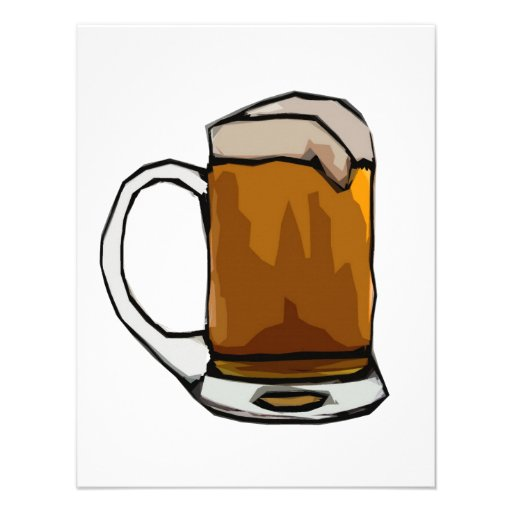 Bier-Cartoon-Kunst-Einladungen - Bier lädt ein