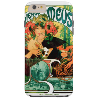 Bier der schönen Kunst Maas Alphonse Mucha Tough iPhone 6 Plus Hülle
