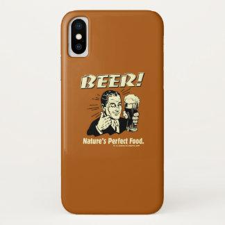 Bier: Die perfekte Nahrung der Natur iPhone X Hülle