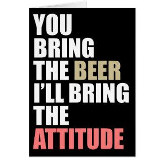 Bier Drinkin laden ein Karte
