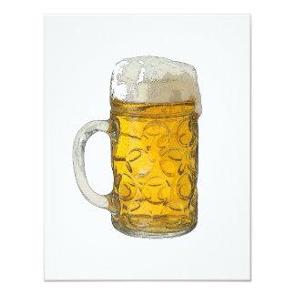 Bier-Einladungen - Bier lädt ein 10,8 X 14 Cm Einladungskarte
