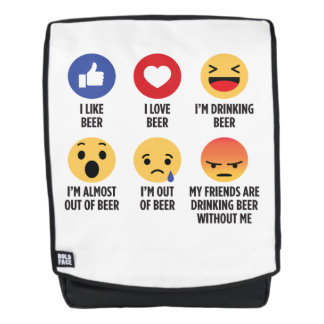 Bier Emojis Rucksack