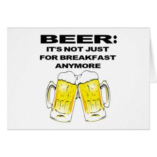 Bier - es ist nicht gerade zum Frühstück mehr Karte