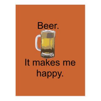 Bier. Es macht mich glücklich Postkarte