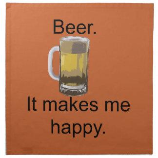 Bier. Es macht mich glücklich Stoffserviette