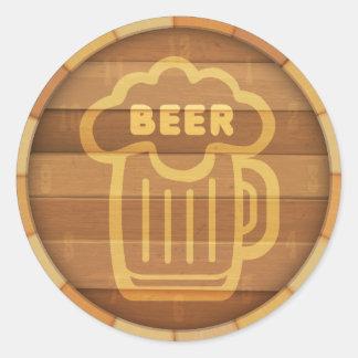 Bier-Fass Runder Aufkleber