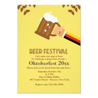 Bier-Festival-Einladung 12,7 X 17,8 Cm Einladungskarte
