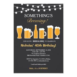 Bier-Geburtstags-Einladung, erwachsener Geburtstag 12,7 X 17,8 Cm Einladungskarte
