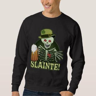 Bier-glückliches Skelett Sweatshirt