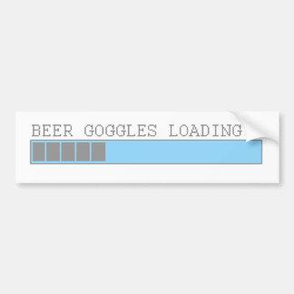 Bier googles, die Typen Pub-Bar-Spaß laden Autoaufkleber