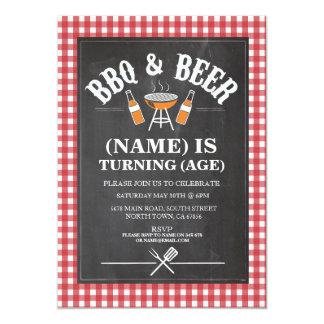Bier GRILLEN Geburtstags-Party, das JEDE MÖGLICHE 12,7 X 17,8 Cm Einladungskarte