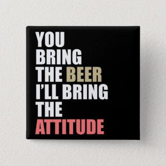 Bier, Haltung Quadratischer Button 5,1 Cm