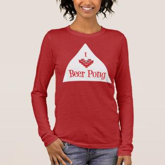 Bier I (Herz-) Pong im Weiß Langarm T-Shirt