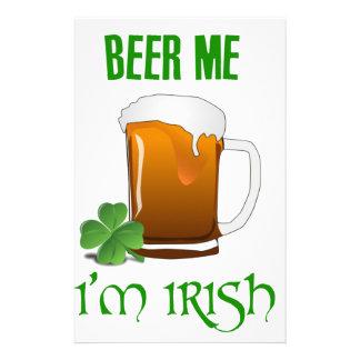 Bier ich bin ich irisch briefpapier