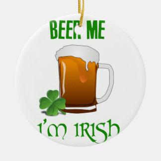 Bier ich bin ich irisch rundes keramik ornament