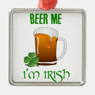 Bier ich bin ich irisch silbernes ornament