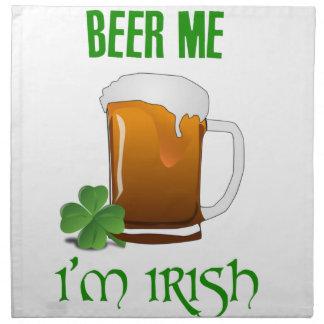 Bier ich bin ich irisch stoffserviette