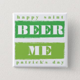 Bier ich, glücklicher Tag St. Patricks Quadratischer Button 5,1 Cm
