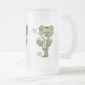 Bier ich grüner Frosch durch Mudge Studios Mattglas Bierglas