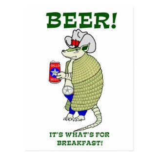 Bier ist es, was zum Frühstück ist Postkarte