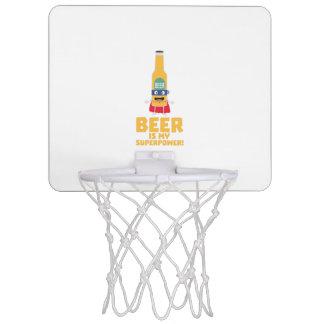 Bier ist meine Supermacht Zync7 Mini Basketball Ring