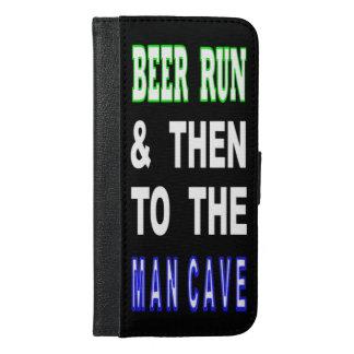 Bier laufen gelassen u. dann zur Mann-Höhle iPhone 6/6s Plus Geldbeutel Hülle