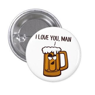 Bier-Lieben Sie, Mann Runder Button 3,2 Cm