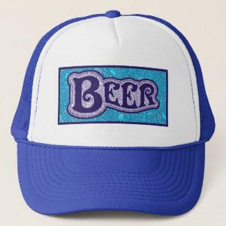 Bier-Logo - blauer Beschaffenheits-Blick Truckerkappe