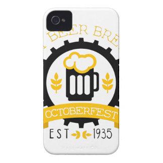 Bier-Logo-Entwurfs-Schablone mit halbem Liter Case-Mate iPhone 4 Hülle