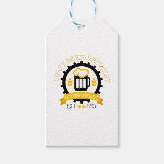 Bier-Logo-Entwurfs-Schablone mit halbem Liter Geschenkanhänger
