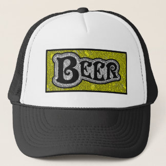 Bier-Logo-- gelber u. schwarzer Retrokultmützen