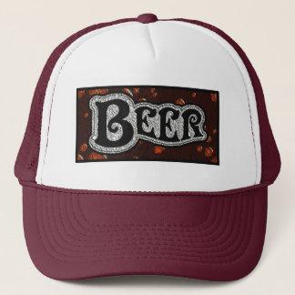 Bier-Logo - Rot/BlackTexture Blick Truckerkappe