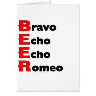 Bier-lustiges Zitat Karte