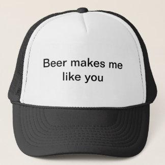 Bier macht mich wie Sie Truckerkappe
