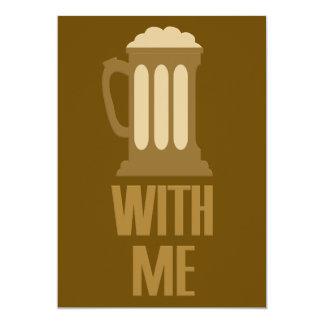 Bier mit mir kundenspezifische Einladung